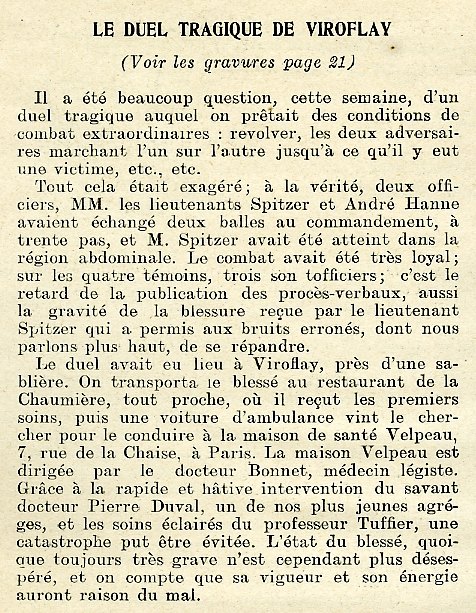 Texte de l'article. (coll. part.)